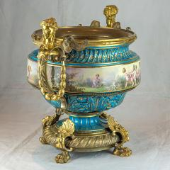 A Fine Quality Large S vres Style Porcelain and Gilt Bronze Centerpiece - 1435110