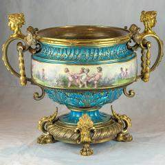 A Fine Quality Large S vres Style Porcelain and Gilt Bronze Centerpiece - 1435111