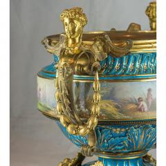 A Fine Quality Large S vres Style Porcelain and Gilt Bronze Centerpiece - 1435113