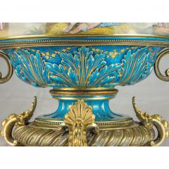 A Fine Quality Large S vres Style Porcelain and Gilt Bronze Centerpiece - 1435114