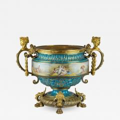 A Fine Quality Large S vres Style Porcelain and Gilt Bronze Centerpiece - 1438187