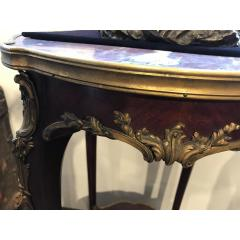 A Fine Quality Pair of Louis XVI style Marble top Side Table - 1566942