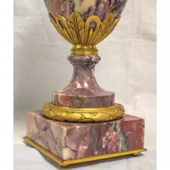 A Fine Quality Pair of Rouge Marble and Gilt Bronze Urns - 2034560