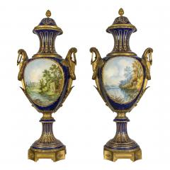A Fine Quality Pair of S vres style Porcelain Vases - 1450146