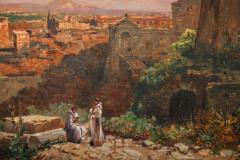 A Fine Roman Landscape Depicting the Colosseum and the Via Sacra - 636549