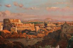 A Fine Roman Landscape Depicting the Colosseum and the Via Sacra - 636550