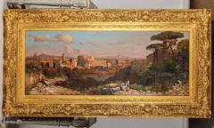 A Fine Roman Landscape Depicting the Colosseum and the Via Sacra - 636551