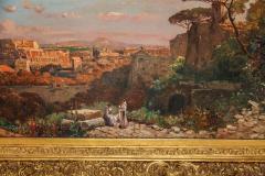 A Fine Roman Landscape Depicting the Colosseum and the Via Sacra - 636552