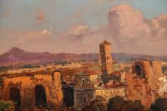 A Fine Roman Landscape Depicting the Colosseum and the Via Sacra - 636554