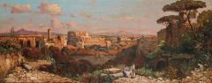 A Fine Roman Landscape Depicting the Colosseum and the Via Sacra - 637256