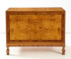 A Fine Swedish Grace Elmroot Inlaid and Cross banded Commode Circa 1920s - 1690094
