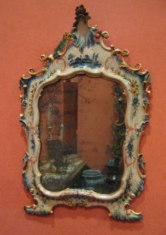 A Fine Venetian Lacquered Toilette or Dressing Table Mirror - 117038
