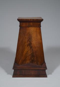 A Finely Figured Mahogany Obelisk Form Pedestal In The Manner Of Sir John Soane - 720492