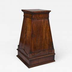 A Finely Figured Mahogany Obelisk Form Pedestal In The Manner Of Sir John Soane - 721225