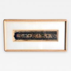 A Framed Antique Coptic Textile - 637730