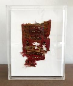 A Framed Pre Columbian Textile Fragment - 599943