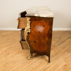 A French 18th C marble top and brass mounts chest of drawers - 2129055