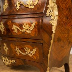 A French 18th C marble top and brass mounts chest of drawers - 2129059