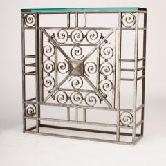 A French Art Deco wrought iron and glass console circa 1930 - 2071206