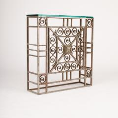 A French Art Deco wrought iron and glass console circa 1930 - 2071209