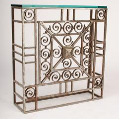 A French Art Deco wrought iron and glass console circa 1930 - 2071210