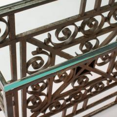 A French Art Deco wrought iron and glass console circa 1930 - 2071211