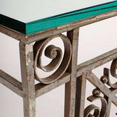 A French Art Deco wrought iron and glass console circa 1930 - 2071212