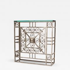 A French Art Deco wrought iron and glass console circa 1930 - 2072144