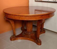 A French Empire Revival Burled Walnut and Walnut Extension Dining Table - 40605