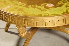 A French Giltwood and Eglomise Cocktail Table - 1116924