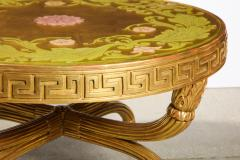 A French Giltwood and Eglomise Cocktail Table - 1116925