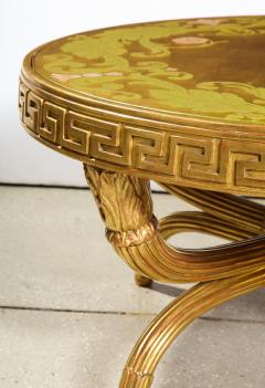 A French Giltwood and Eglomise Cocktail Table - 1116926