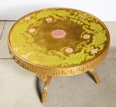 A French Giltwood and Eglomise Cocktail Table - 1116929