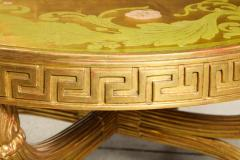 A French Giltwood and Eglomise Cocktail Table - 1116930