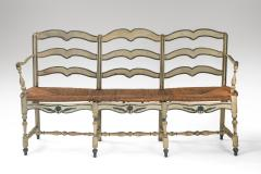 A French Provincial Painted Sofa Bench - 1064776