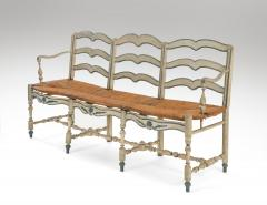 A French Provincial Painted Sofa Bench - 1064780
