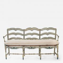 A French Provincial Painted Sofa Bench - 1065863