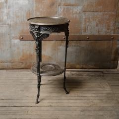 A French antique two tier bronze garden bistro table - 2128948