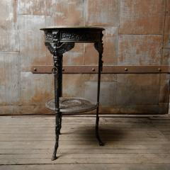 A French antique two tier bronze garden bistro table - 2128954