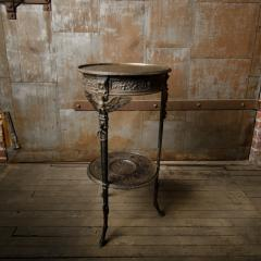 A French antique two tier bronze garden bistro table - 2128996