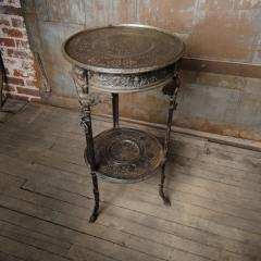 A French antique two tier bronze garden bistro table - 2128997