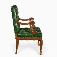 A French mahogany desk chair - 1794044