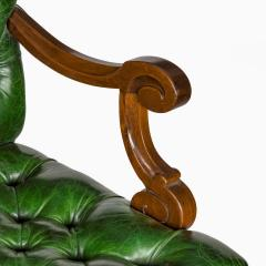 A French mahogany desk chair - 1794045