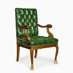 A French mahogany desk chair - 1794046