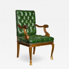 A French mahogany desk chair - 1798092
