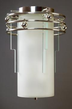 A Frosted and Clear Glass Lantern France 1930s - 320169