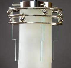 A Frosted and Clear Glass Lantern France 1930s - 320170