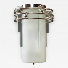 A Frosted and Clear Glass Lantern France 1930s - 321051