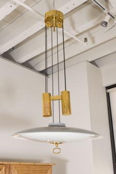 A Gaetano Scoliari Adjustable Height Italian Ceiling Fixture - 163551