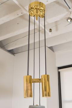 A Gaetano Scoliari Adjustable Height Italian Ceiling Fixture - 163552